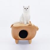 ZEZE 金豬凳子貓咪屋  人寵兩用寵物窩