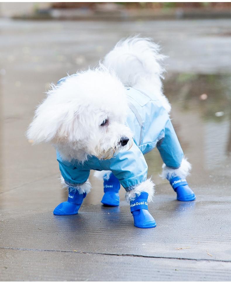 嬉皮狗 果色狗狗雨鞋 宠物鞋