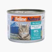 Feline Natural 天然无谷牛肉鳕鱼猫罐头 170g