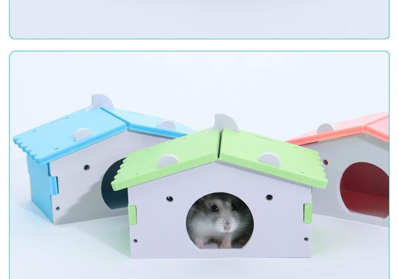 zoog组格酷品 组装木塑小矮房小宠窝仓鼠窝