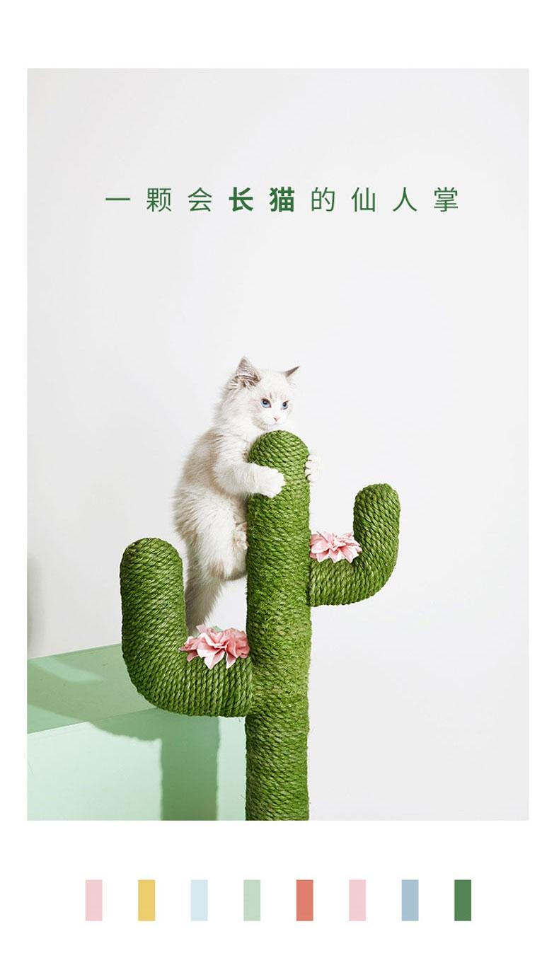 未卡 北欧风仙人掌创意猫爬架mini 手工制作 结实耐抓