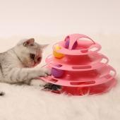多可特 四层猫转盘猫玩具 耐摔防滑 可自由拆卸