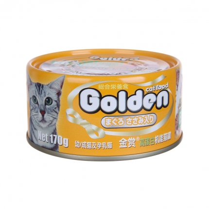 金赏Golden 金枪鱼+鸡肉丝味猫罐头170g 猫湿粮