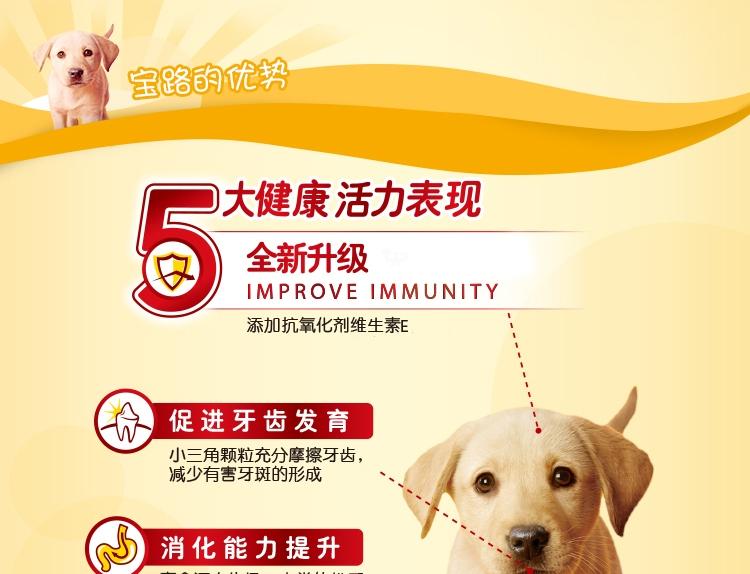 宝路Pedigree 肉类奶蔬菜谷物配方幼犬粮 1.3kg