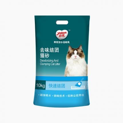 怡亲Yoken 膨润土去味结团猫砂10kg