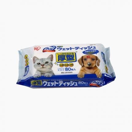 爱丽思IRIS 通用型银离子消毒宠物纸巾湿巾 80片启封装