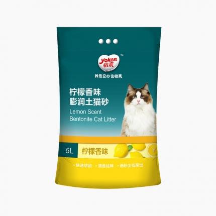 怡亲Yoken 柠檬香型膨润土猫砂(5L)4kg