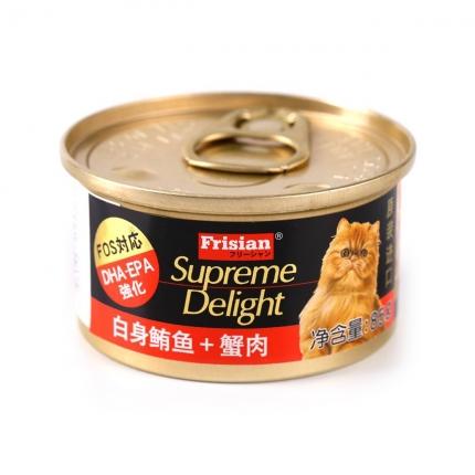 富力鲜 白身鲔鱼蟹肉猫罐头85g 原装进口猫湿粮零食