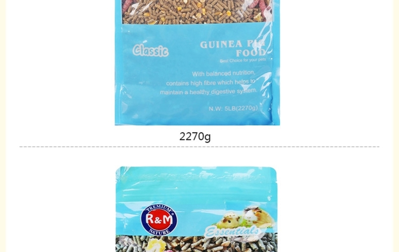 哈姆大红鹰国际娱乐经典营养豚鼠天竺鼠荷兰猪粮 饲料主食经典豚鼠粮2270g