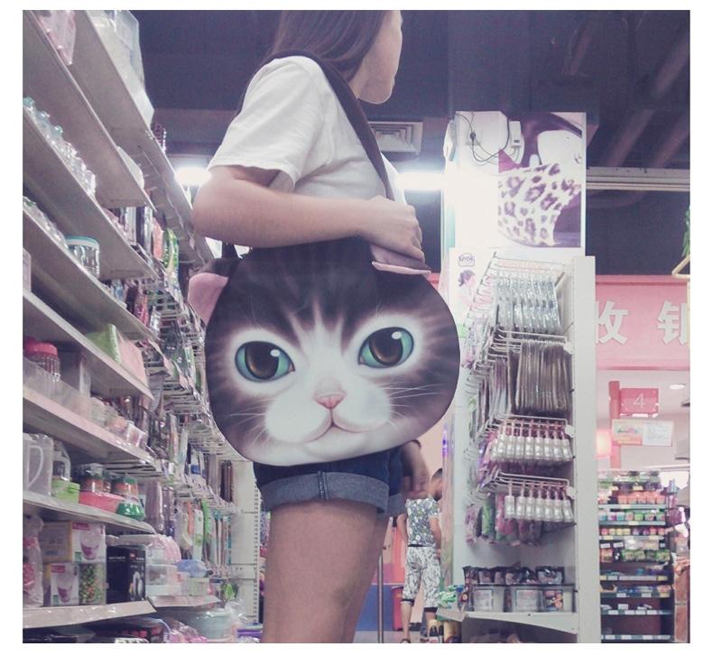 猫范 喵星人汪星人 单肩包挎包