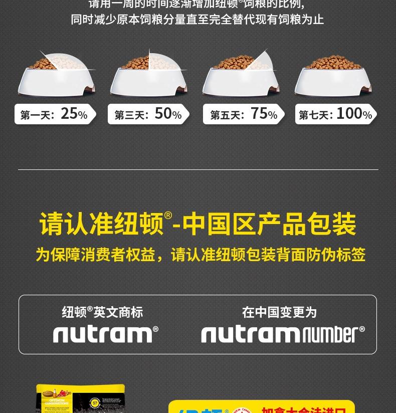 纽顿Nutram T28小型犬及玩赏犬鲑鱼鳟鱼配方全价犬粮 6kg