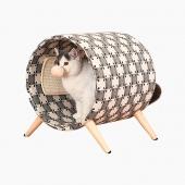 伊丽Elite 猫爬架实木猫床圆桶猫窝猫抓板猫磨爪宠物用品大红鹰娱乐场在线玩具