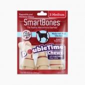 美国Smartbones 中号夹心洁齿骨鸡肉味 3支装 240g 狗零食 磨牙洁齿