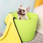 多可特 狗狗洗澡盆猫咪小型犬宠物泡澡桶 药浴洗澡桶 颜色随机 犬猫通用